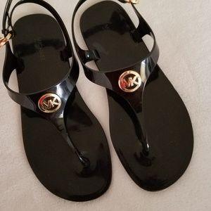 MK Black Jelly Sandals